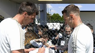 Juventus hold an open training session for their fans
