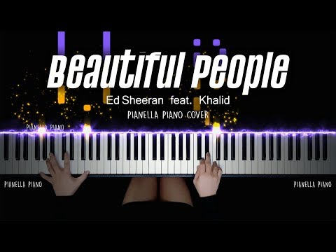 Download Lagu Ed Sheeran - Beautiful People (feat. Khalid) | PIANO COVER by Pianella Piano MP3