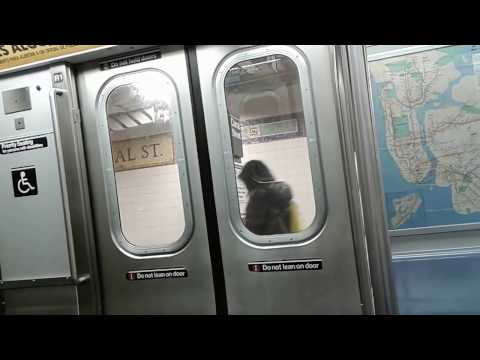 NYC Subway: Times Square- 42nd Street to Whitehall Street-South Ferry on the W Train!