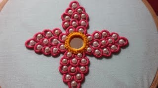 Hand Embroidery designs | Bullion knot stitch | Stitch and Flower-130