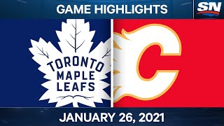 NHL Game Highlights | Maple Leafs vs. Flames - Jan. 26, 2021