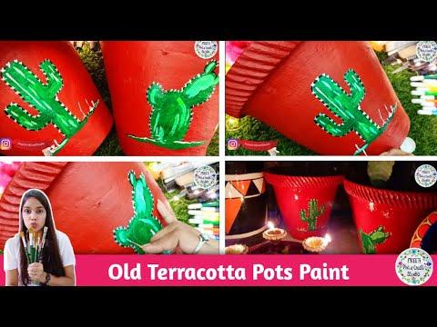 old-terracotta-pots-paint-/-pot-decoration-ideas-/-paint-for-garden-pots-/-home-decoration-ideas