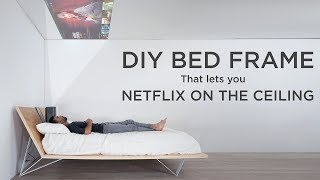 DIY Bed with Ceiling Projector | WATCH MOVIES ON THE CEILING