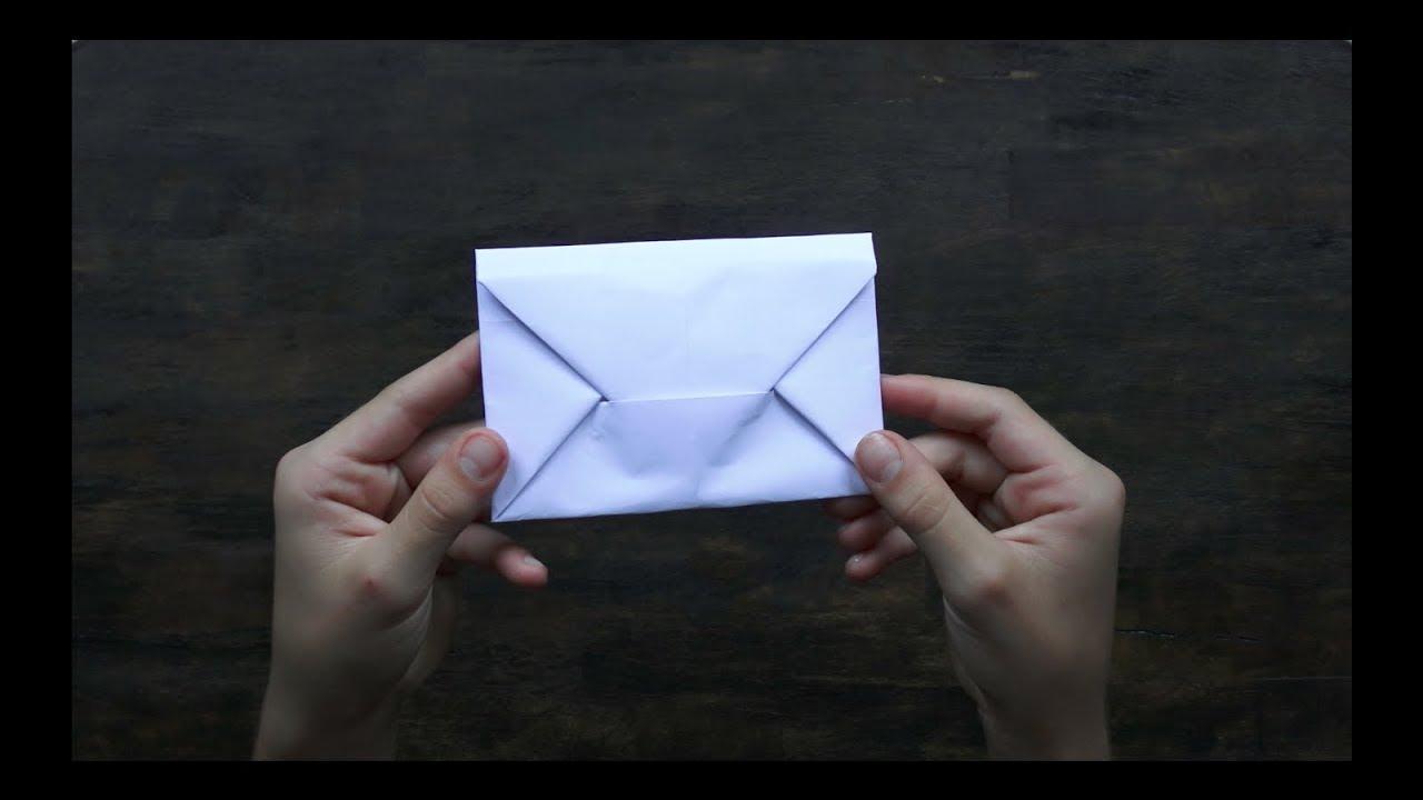 Origami Brief Briefumschlag Aus Din A4 Briefumschlag Falten