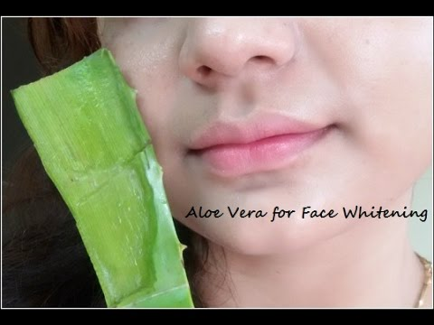 How to Whiten Skin with Aloe Vera