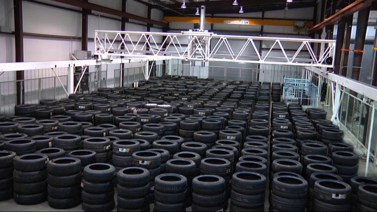 Asrs For Tire Storage Warehouse By Sage Automation Youtube