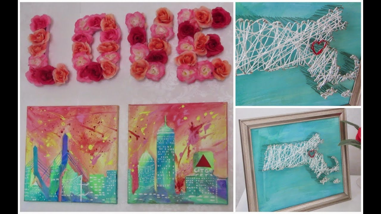 DIY Room Decor! Wall Artwork! Fun U0026 Easy To Create!   YouTube