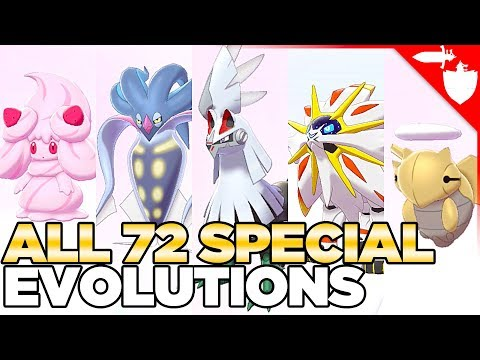 All 72 Special Evolutions In Pokemon Sword And Shield
