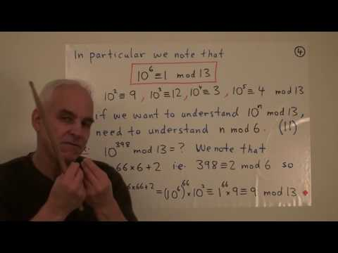 MathFoundations197: Modular arithmetic with Fermat and Euler