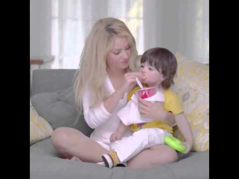 Shakira spending time with milan eating a healthy fruit