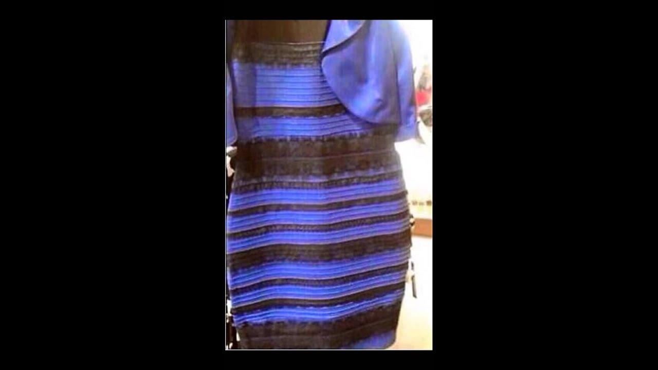 Das kleid gold oder blau