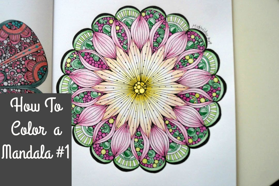 how2 color a mandala 1 colored pencils youtube