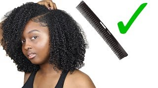 POPPIN Type 4 Wash n Go Using a THREE ROW COMB!