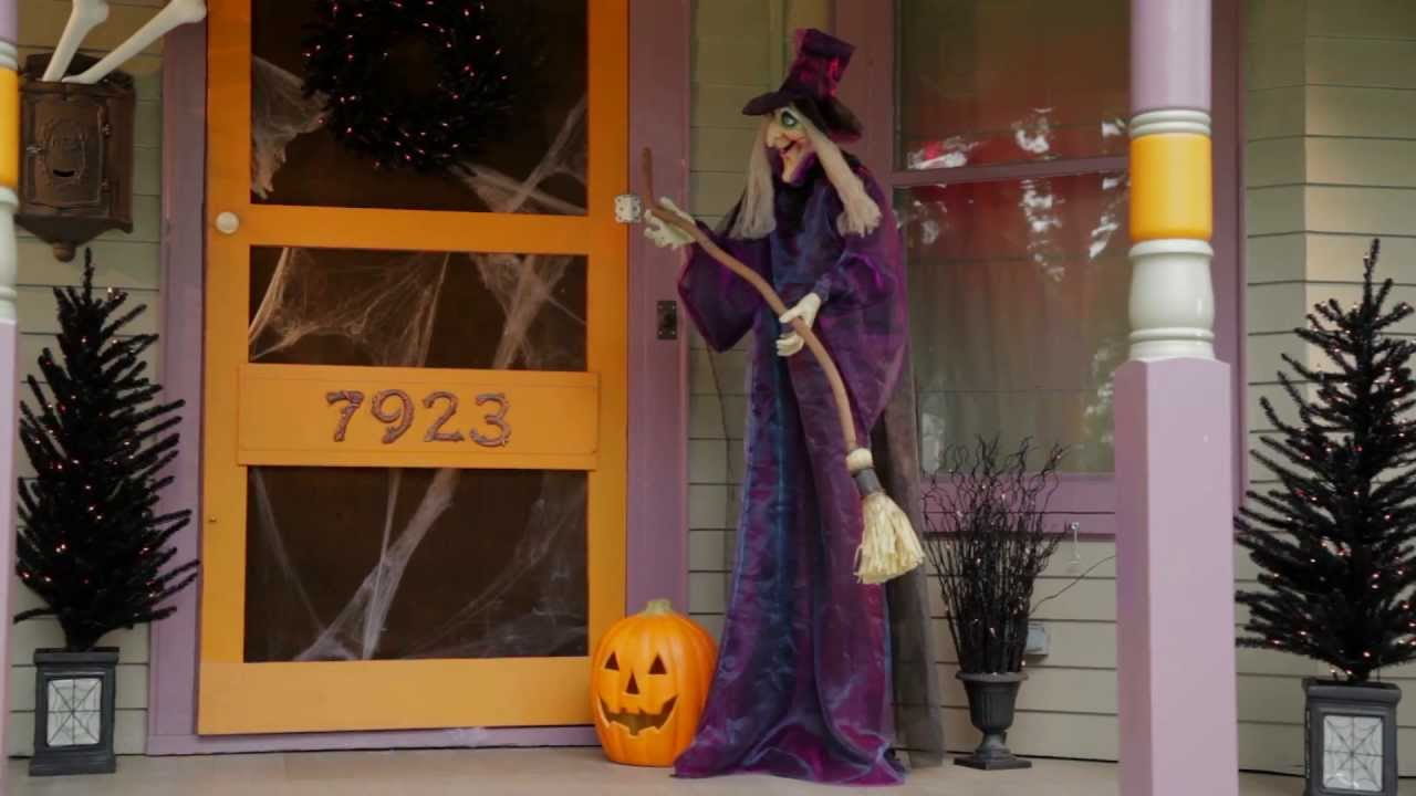 6 ft animated standing halloween witch improvements catalog - Halloween Catalog