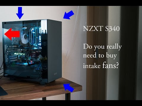 NZXT S340 airflow test