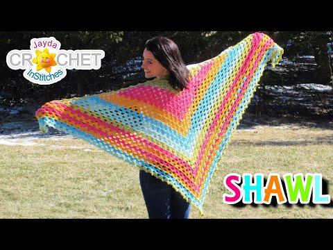 Splendid Springtime Shawl – Crochet Pattern