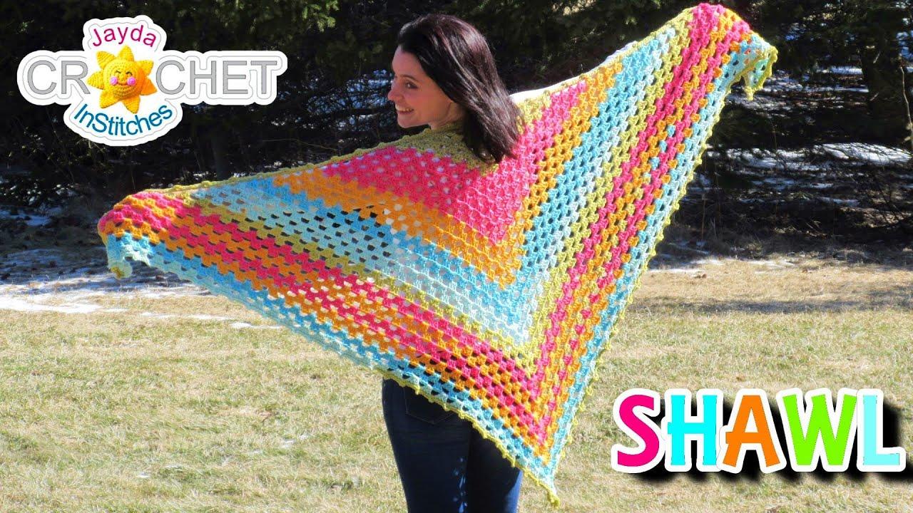 Splendid Springtime Shawl Crochet Pattern Youtube
