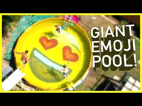 DAD TURNS POOL INTO EMOJI!!  | Sam & Nia