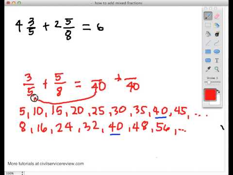 how to add mixed fractions with different denominators part 1