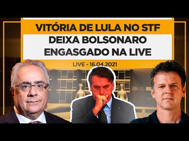 Vitória de Lula no STF deixa Bolsonaro engasgado na Live - Eduardo Moreira e Luís Nassif - 16/04