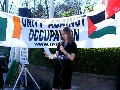 Freda Mullin Hughes At Protest At Israeli Embassy Dublin April 17 2010 Pt 1