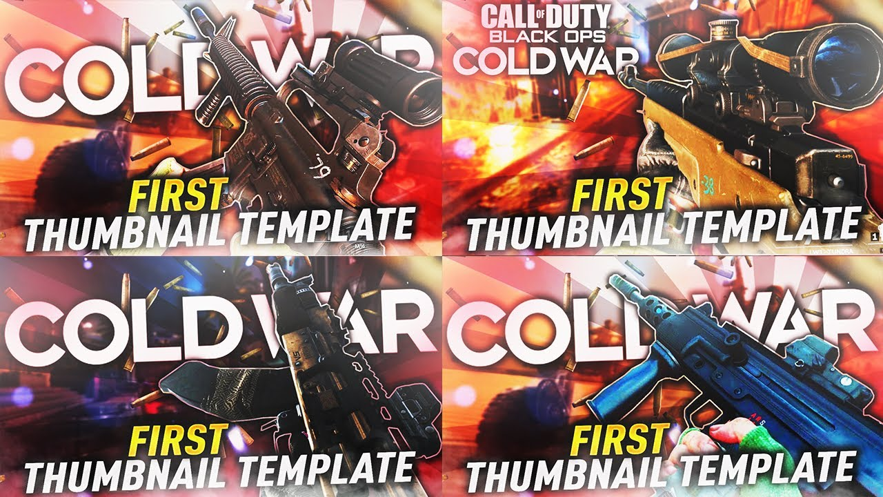 First Call Of Duty Cold War Thumbnail Template Psd Youtube
