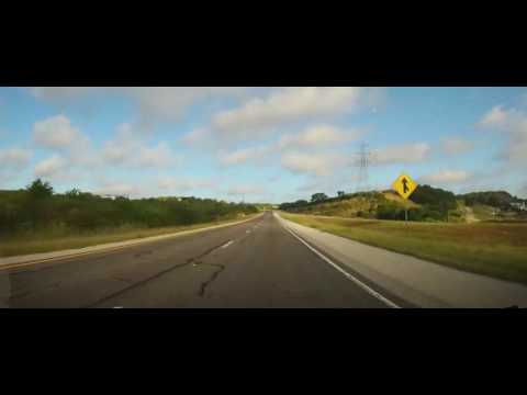 Driving on Interstate 10 in Rural Texas from Kerr to Crockett County