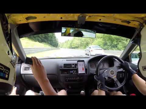 Nurburgring Nordschleife Honda Civic EK4 Jordan BTG 8:50 June 2016