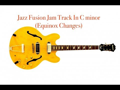 Jazz Fusion - C minor Blues - (Equinox Changes) Jam Track - Play Along - Real Book - Backing Track