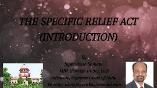 admin/ajax/The Specific Relief Act