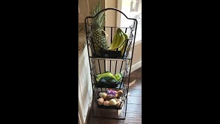 Mesa 3 Removable Baskets with Adjustable Stand Storage Unit from Costco