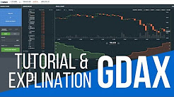 📈Understanding GDAX What do the Numbers and Charts Mean Trading Tutorial : Crypto by WSM