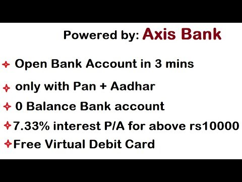Open Zero Balance Bank Account In 3 Mins With Live Process With