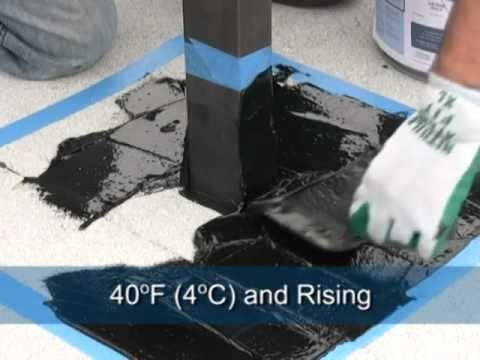 Garland Roofing Installing Liquid Flashing System Youtube