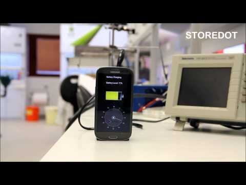 Charging Smartphone in 30S: StoreDot Flash-Battery Demo