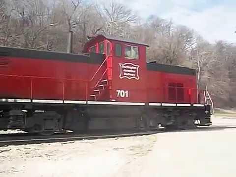 Burlington Junction Railway  Alco #701  (C415)  Burlington, Iowa.