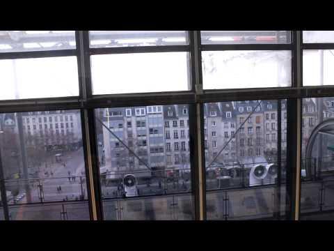 Otis Hydraulic Elevators at Pompidou Centre in Paris