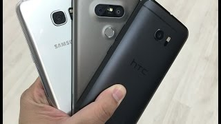 LG G5 Vs Samsung Galaxy S7 Edge Vs HTC 10 مقارنة بين أجهزة