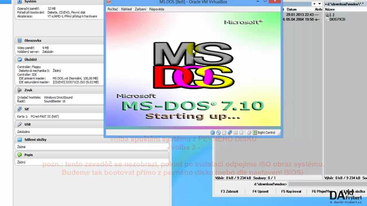 Ms Dos Virtualization Youtube