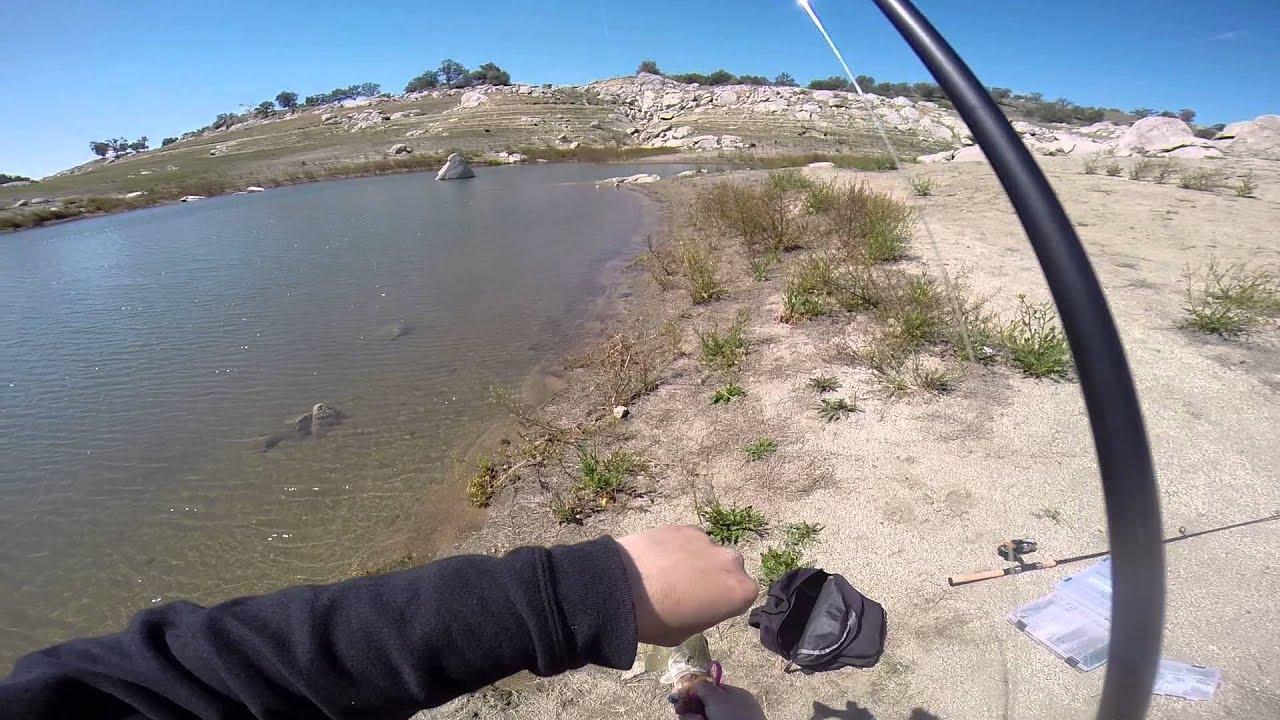 Bass fishing at eastman lake ca youtube for Bass lake ca fishing