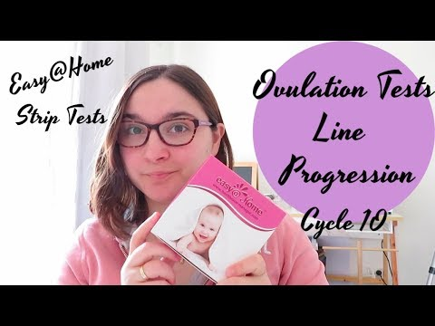 Ovulation Test Line Progression Cycle 10 || Easy@home ovulation test strips || TTC Baby #2
