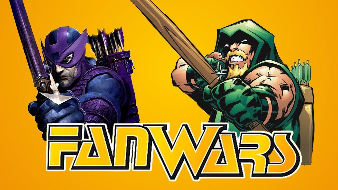 Green Arrow vs Hawkeye The