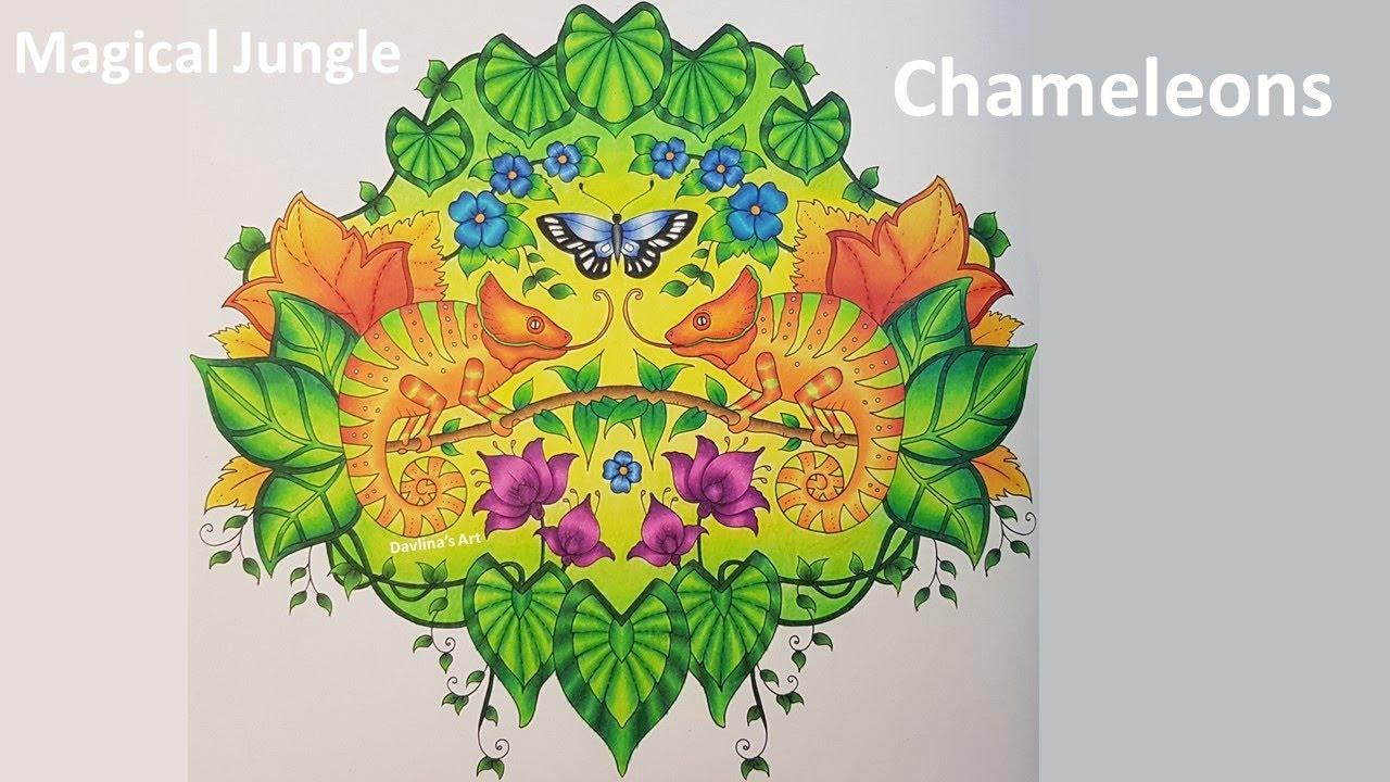 chameleons magical jungle by johanna basford youtube