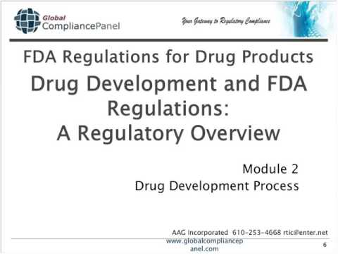 The FDA Drug Development Process: GLP, GMP and GCP Regulatio