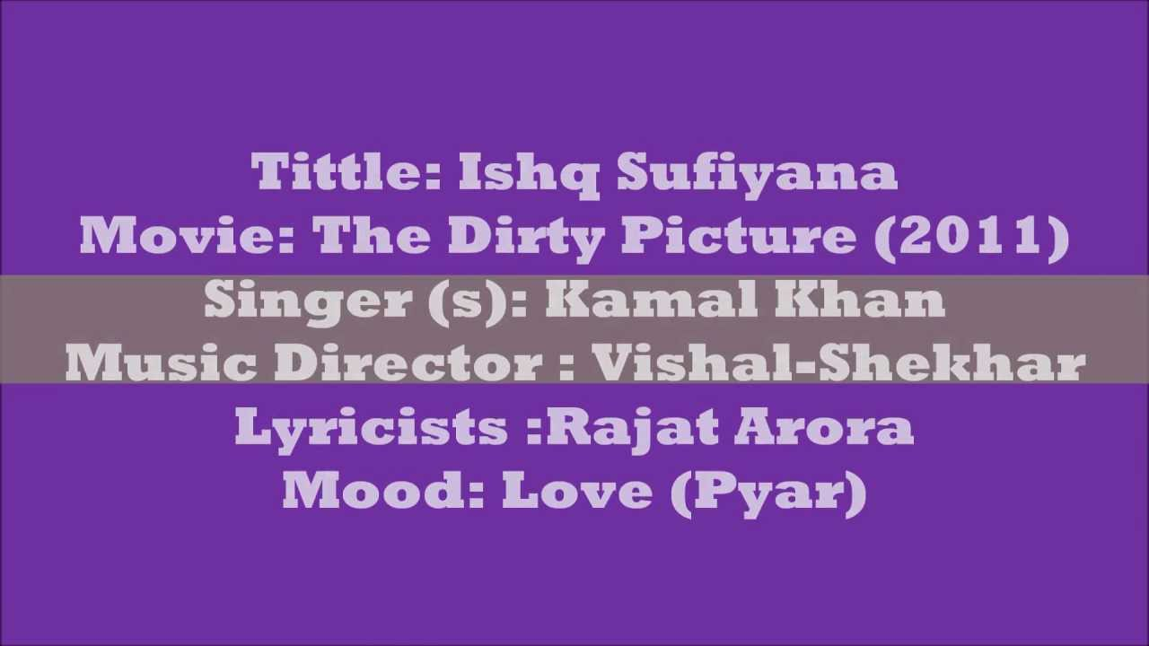 Ishq Sufiyana Lyrics (English Translation) - The Dirty Picture (2011) !HD!  Kamal Khan