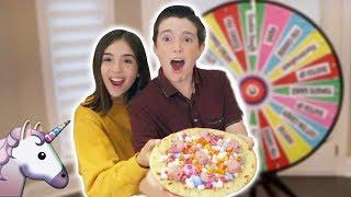 THE UNICORN PIZZA!! - MYSTERY WHEEL CHALLENGE!!