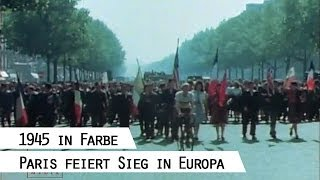Paris feiert Kriegsende, 8.5.1945 (VE-Day = Victory in Europe Day)