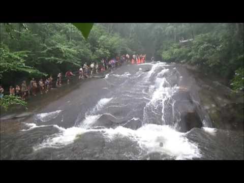 Sliding Rock NC: Sliders In The Rain