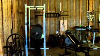 40 rep squats: 225