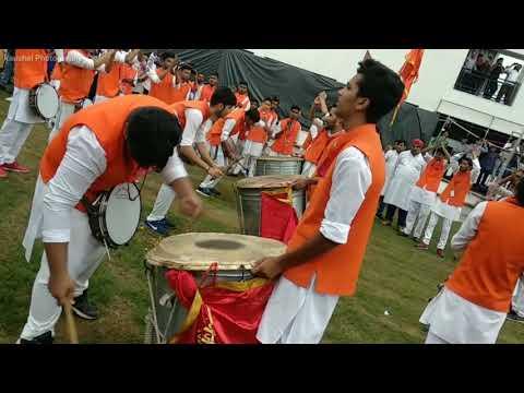 ShivGarjana Dhol Tasha Dhwaj Pathak Nagpur 2018 New #shivtaal #bhagwarang #ganpatibapamorya besttaal